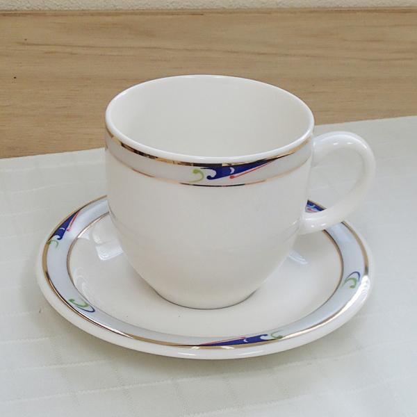 アメリカンコーヒーカップソーサー ニューボン ブルーウェーブ 洋食器 業務用食器 商品番号:3y766-05-682