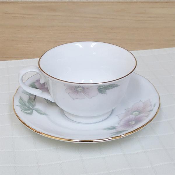 ティーカップソーサー ローズマロー 洋食器 業務用食器 商品番号:3y766-09-682
