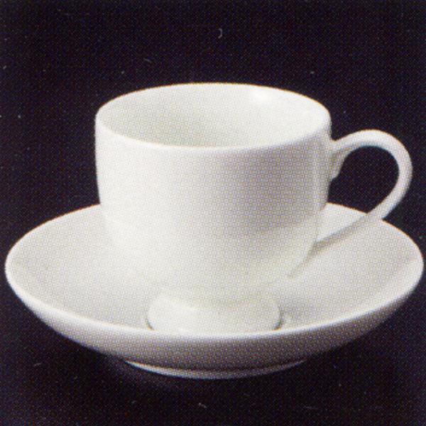 エスプレッソカップソーサー 白 ボーンチャイナ 高台 洋食器 業務用食器 商品番号:3y769-12-682