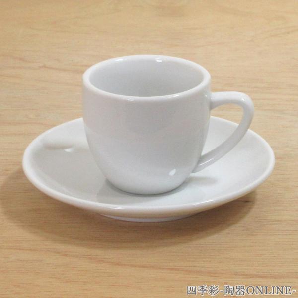 エスプレッソカップソーサー 白 厚口 洋食器 業務用食器 商品番号:3y769-26-332