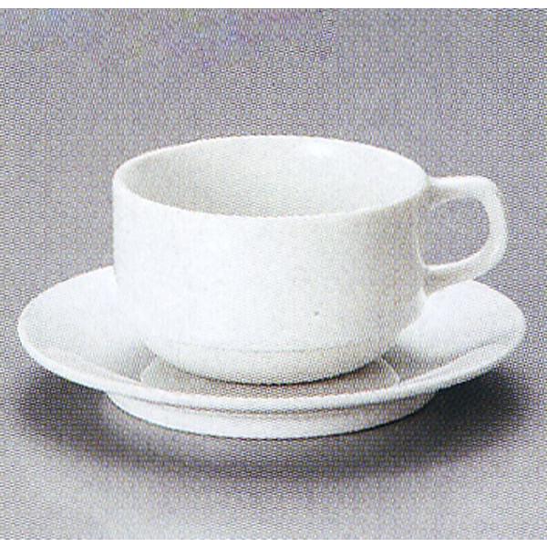 アメリカンコーヒーカップソーサー カプチーノカップ 白 ホテル スタック 洋食器 業務用食器 商品番号:3y770-29-542