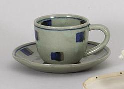 コーヒーカップソーサー カスリ 陶器 和食器 業務用食器 商品番号:5a801-1-2