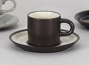 コーヒーカップソーサー 茶切立 陶器 和食器 業務用食器 商品番号:5a801-19-20