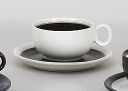 コーヒーカップソーサー ミストホワイト 陶器 和食器 業務用食器 商品番号:5a801-33-34