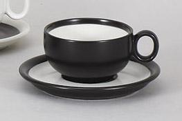 コーヒーカップソーサー ミストブラック 陶器 和食器 業務用食器 商品番号:5a801-35-36