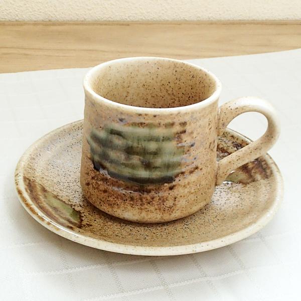 コーヒーカップソーサー 伊賀 陶器 和食器 業務用食器 商品番号:5a801-63-64
