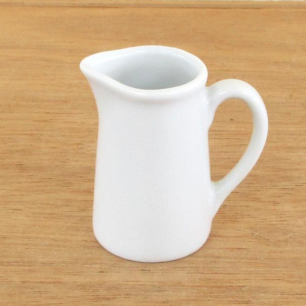 ミルクピッチャー 3人用 白 クリーマー 陶器 業務用食器 商品番号:m50900095