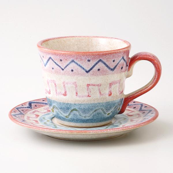 コーヒーカップソーサー アラベスク 陶器 和食器 業務用食器 商品番号:6a26-58