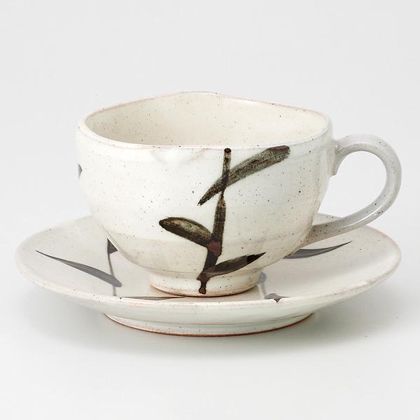コーヒーカップソーサー 錆絵 陶器 和食器 業務用食器 商品番号:6a28-51
