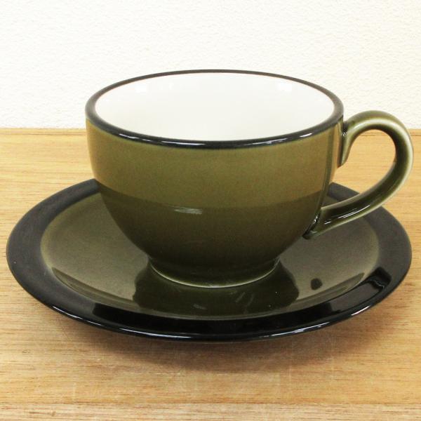 コーヒーカップ ソーサー ブラックラスト オリーブ