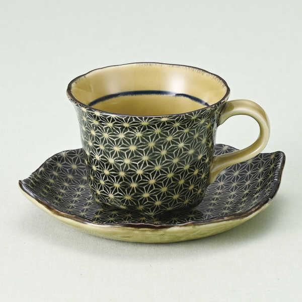 コーヒーカップソーサー 刺し子