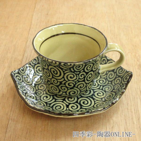 コーヒーカップソーサー うず唐草 陶器 和食器 業務用食器 商品番号:9d73018-028
