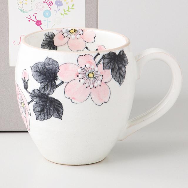 マグカップ 薄墨 ピンク