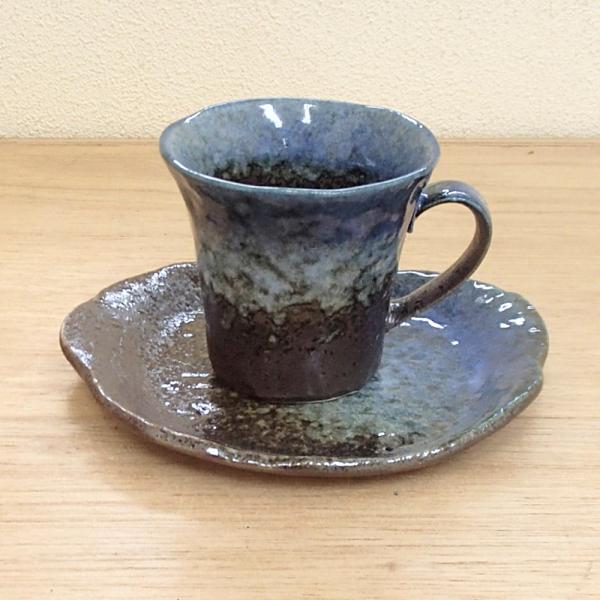 コーヒーカップソーサー 森の湖