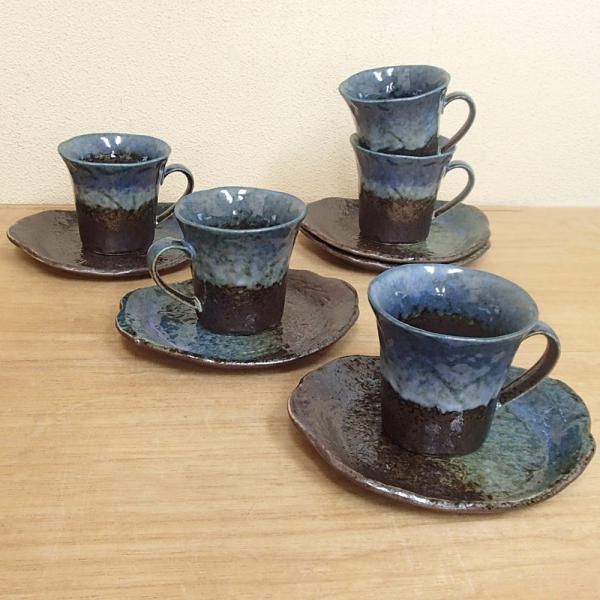 コーヒーカップソーサー 5客セット 森の湖