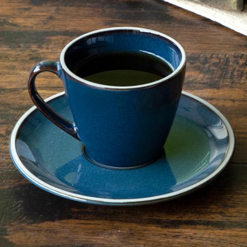 コーヒーカップ ソーサー モード ブルー ルスト