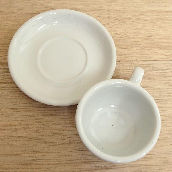 ティーカップソーサー ギャラクシー ミルク 白 洋食器 業務用食器 商品番号:k111153-111155