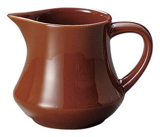 ミルクピッチャー チャコールブラウン カントリーサイド クリーマー 陶器 業務用食器 商品番号:k11361063