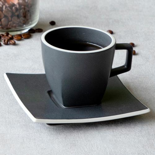 コーヒーカップソーサー カーボンブラック カルマ