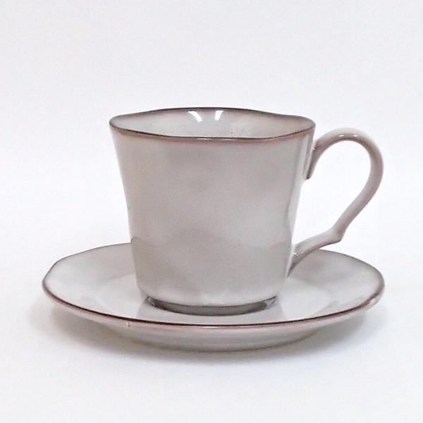 コーヒーカップソーサー ラフェルム スモークホワイト