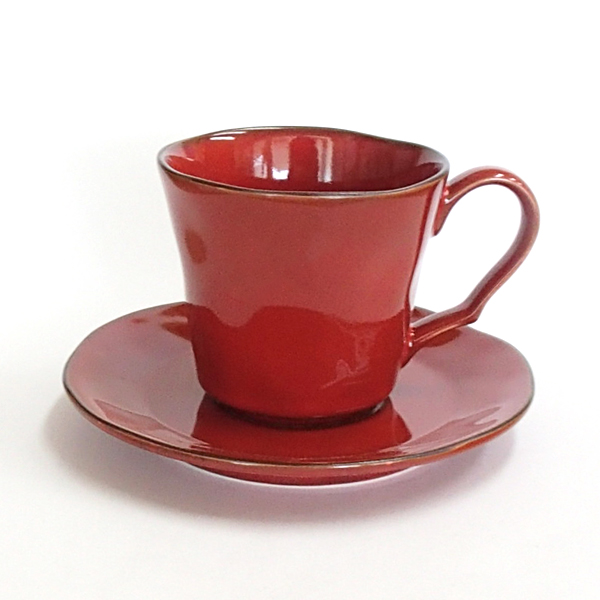 コーヒーカップ ソーサー ラフェルム ヴィンテージレッド