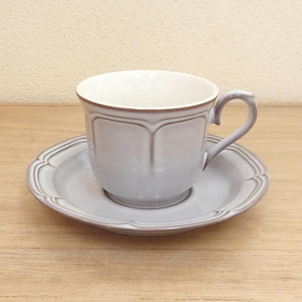 コーヒーカップソーサー ラフィネ スモークホワイト