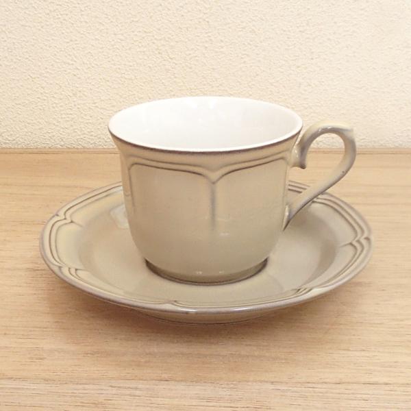 コーヒーカップソーサー ラフィネ シナモンベージュ