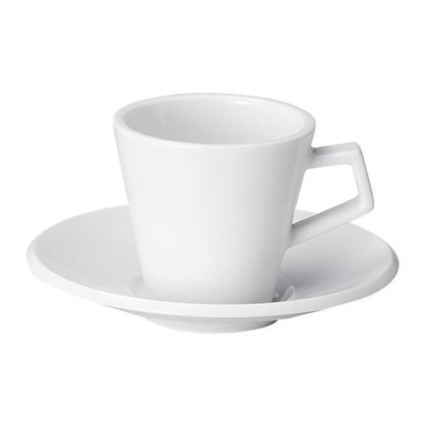 コーヒーカップソーサー ピュアホワイト スパーダ