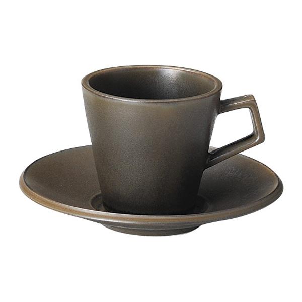 コーヒーカップソーサー ラバブラウン スパーダ