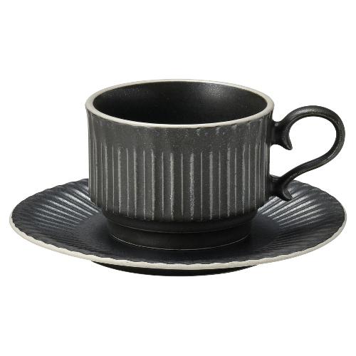 コーヒーカップ ソーサー スタック クリスタルブラック ストーリア