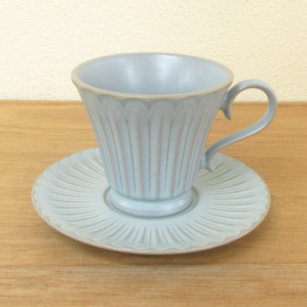 コーヒーカップ ソーサー ブルーグレー ストーリア
