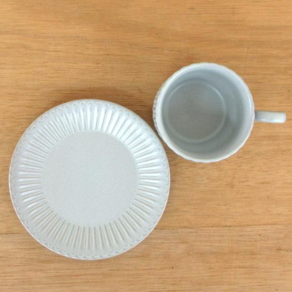 コーヒーカップ ソーサー スタック ブルーグレー ストーリア
