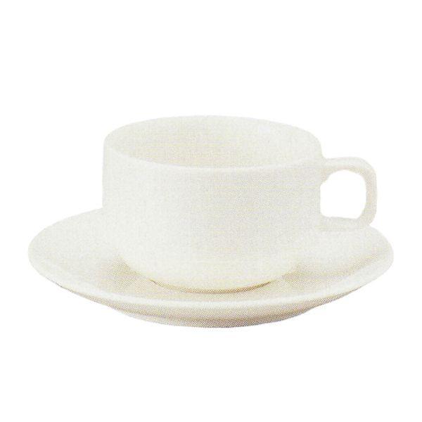 アメリカンコーヒーカップソーサー 白 ニューボン スタック ボンボヤージ 洋食器 業務用食器 商品番号:k245051-310155