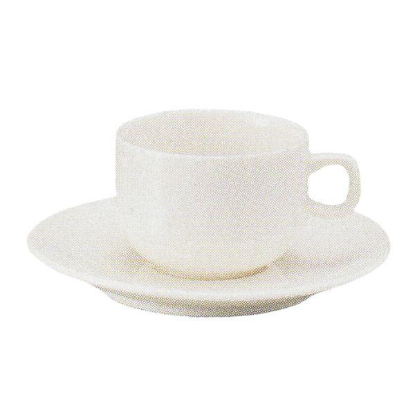エスプレッソカップソーサー 白 ニューボン ボンボヤージ スタック 洋食器 業務用食器 商品番号:k245058-210059