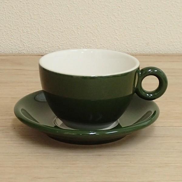 コーヒーカップソーサー グリーン ブリオ