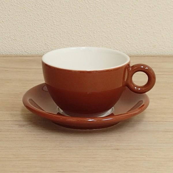 コーヒーカップソーサー ブラウン ブリオ