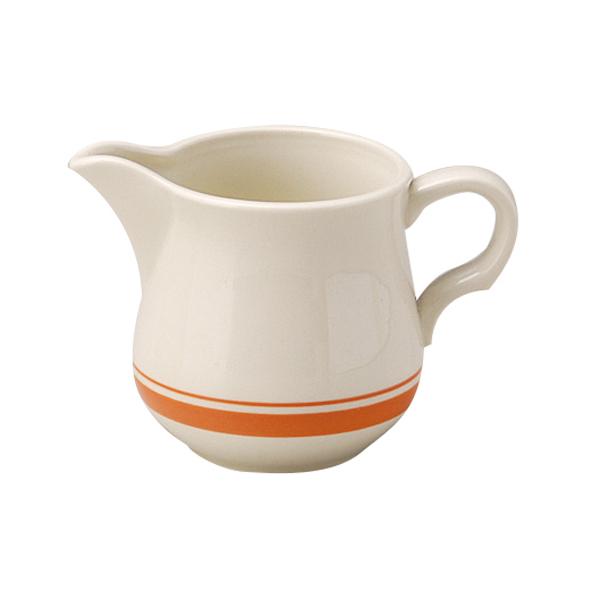 ミルクピッチャー カントリーサイド ソーバーオレンジ クリーマー 陶器 業務用食器 商品番号:k344463