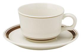 ティーカップソーサー カントリーサイド ダークブラウン 洋食器 業務用食器 商品番号:k344653-344655