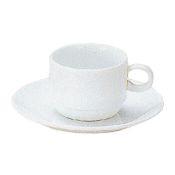 エスプレッソカップソーサー 白 プラージュ スタック 洋食器 業務用食器 商品番号:k380058-700059