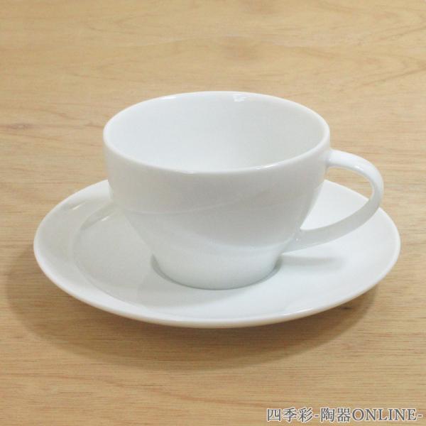 コーヒーカップソーサー ピュアホワイト アルコ