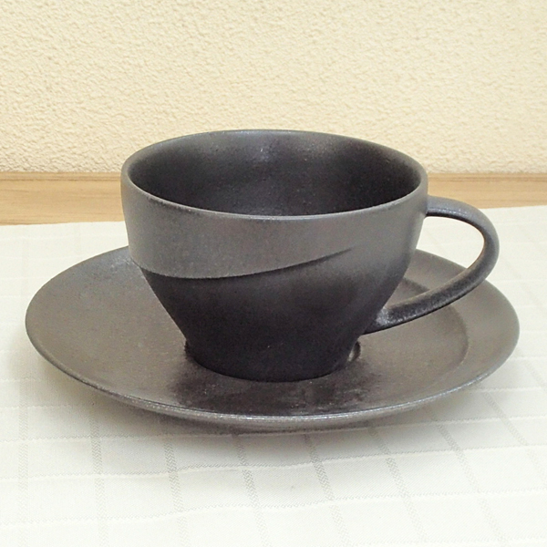 コーヒーカップソーサー クリスタルブラック アルコ