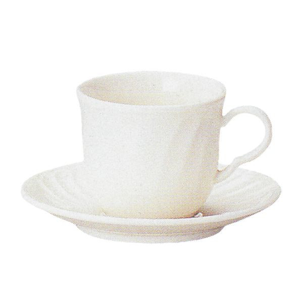 アメリカンコーヒーカップソーサー 白 ニューボン シフォン 洋食器 業務用食器 商品番号:k510051-510055
