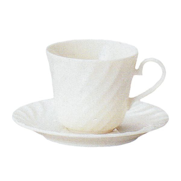 アメリカンコーヒーカップソーサー 白 ニューボン エスポアール 洋食器 業務用食器 商品番号:k520051-520055
