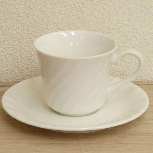 コーヒーカップソーサー 白 ニューボーン エスポアール 洋食器 業務用食器 商品番号:k520052-520055