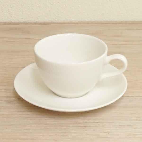 アメリカンコーヒーカップソーサー 白 ニューボン ラテ 洋食器 業務用食器 商品番号:k565051-310155