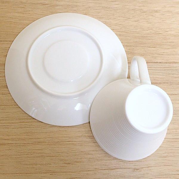 コーヒーカップソーサー ピュアホワイト ピコレ