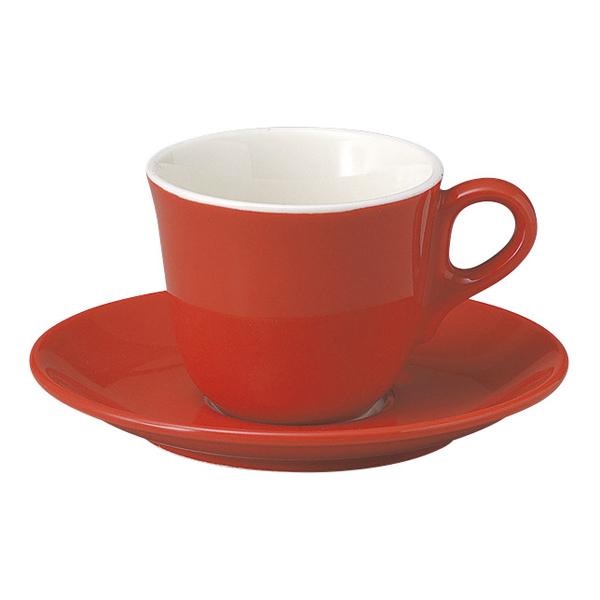 コーヒーカップソーサー レッド マーレ