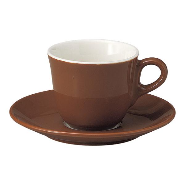 コーヒーカップソーサー ブラウン マーレ