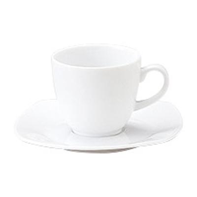 コーヒーカップソーサー ピュアホワイト グラッセ