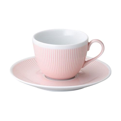 コーヒーカップソーサー ピンク シフォン